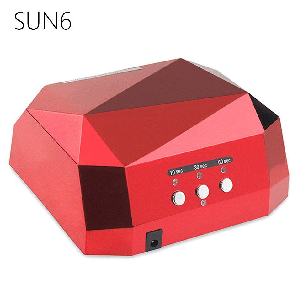 Sun6 36w Auto Uv Led Lamp Uv Nail Dryer Sun Light 365 405nm Nail Lamp Diamond Shaped Curing For Uv Gel Nail Polish Nail Ar Uv Nail Lamp Uv Gel Nails Nail Dryer