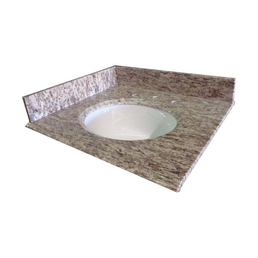 Allen Roth Santa Cecilia Granite Undermount Bathroom Vanity Top Common 43 In X 22 Actual
