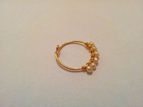 Pearl ring  Stacking ring Adjustable by MiritLevinJewelry on Etsy, $22.50