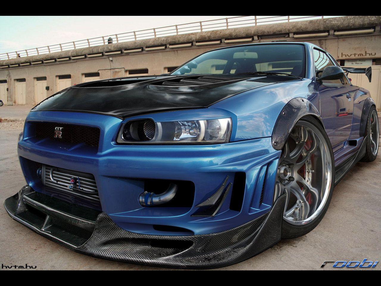 Nissan skyline gt r dressed in carbon fiber