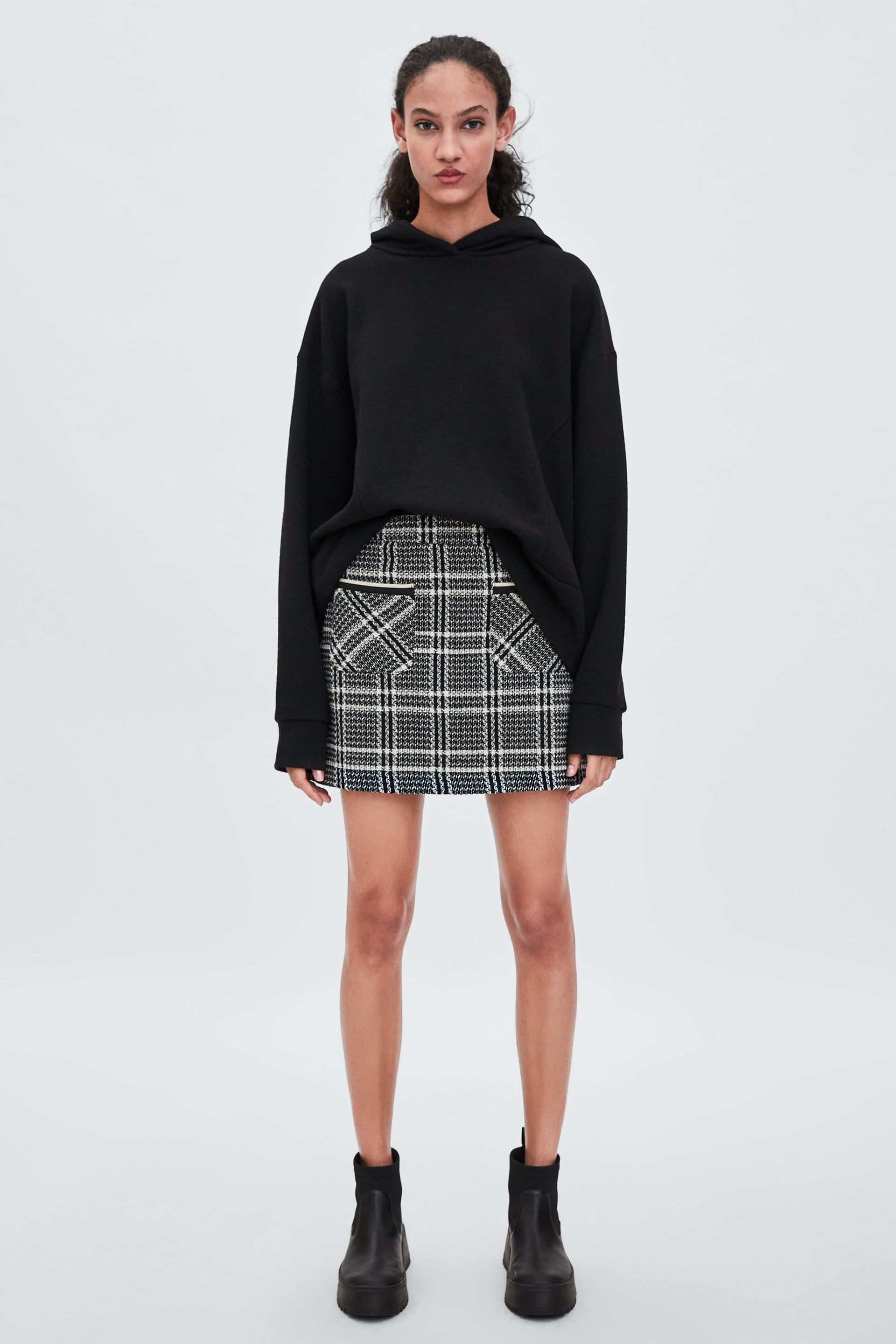 ef3e89a1 Image 1 of TWEED MINI SKIRT WITH POCKETS from Zara | fashion | Tweed ...