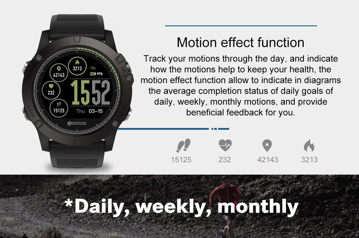 Zeblaze Vibe 3 Hr Rugged Inside Out Hr Monitor 3d Ui All Day