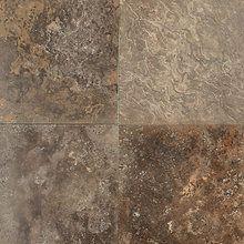 "View the Daltile T718-12121U Travertine Cafe Au Lait 12"" x 12"" Honed Stone Multi-Surface Tile at Floormall.com."