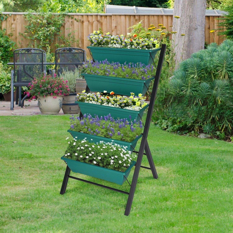 Kinbor 4FT Raised Garden Bed, Vertical Garden Planters w