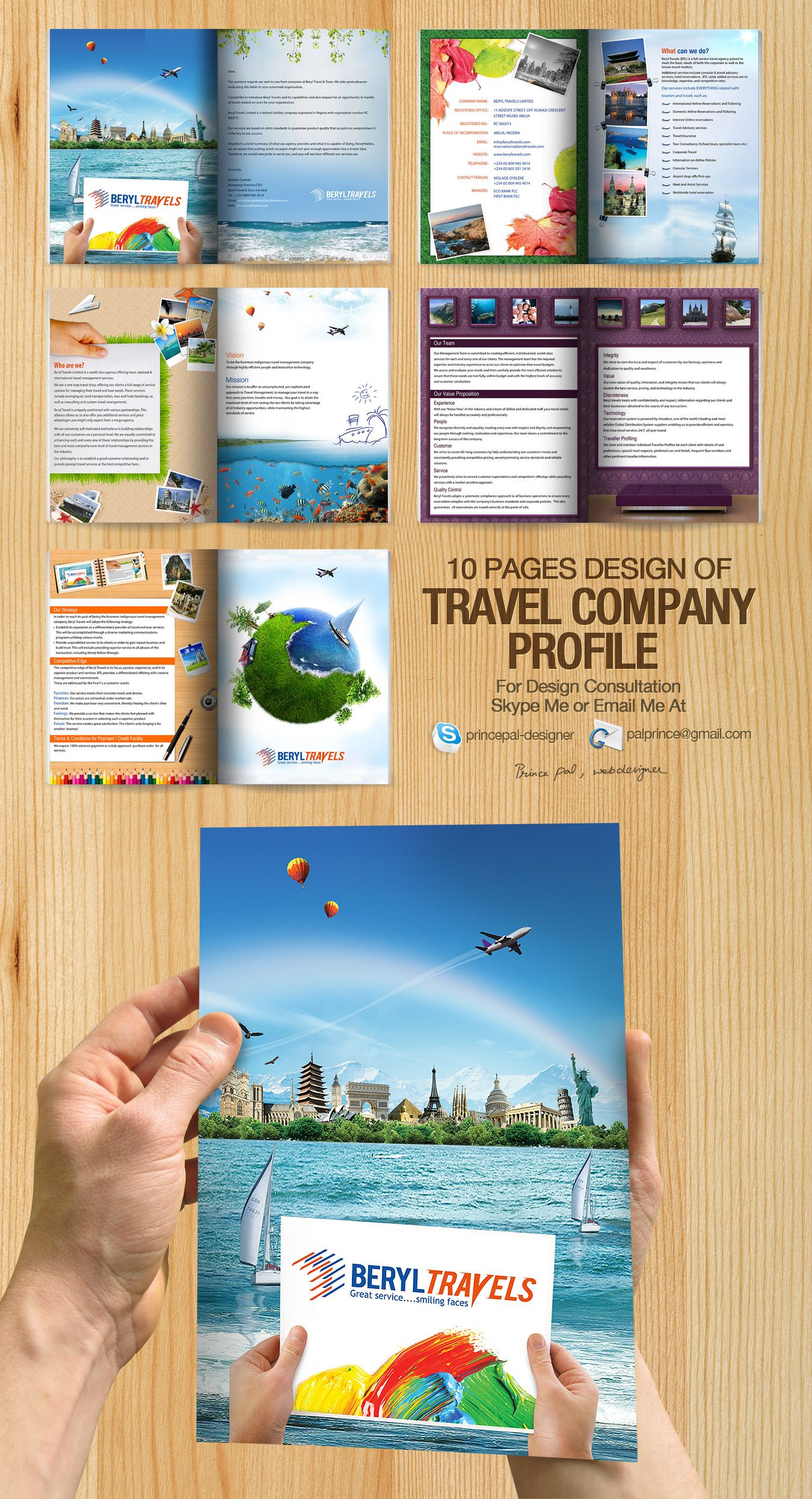 Company Profile Tour And Travel : company, profile, travel, Travel, Company, Profile