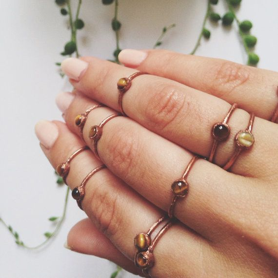 Tiger's Eye Stacking Ring - local eclectic  - 1