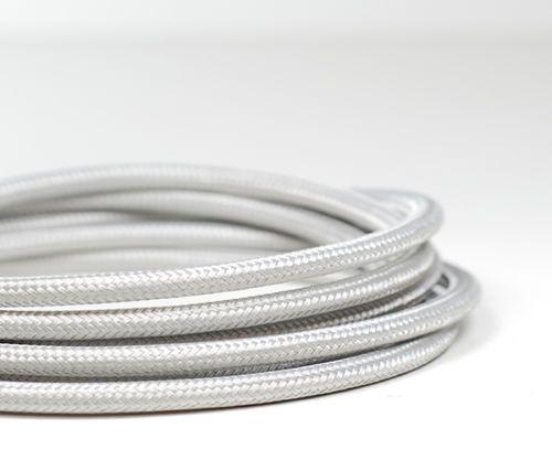 Italian Coloured braided lighting 3 core fabric cable flex cord ...