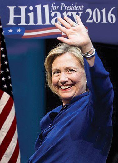 Funny Birthday Card Hillary Clinton Scary Scandal President