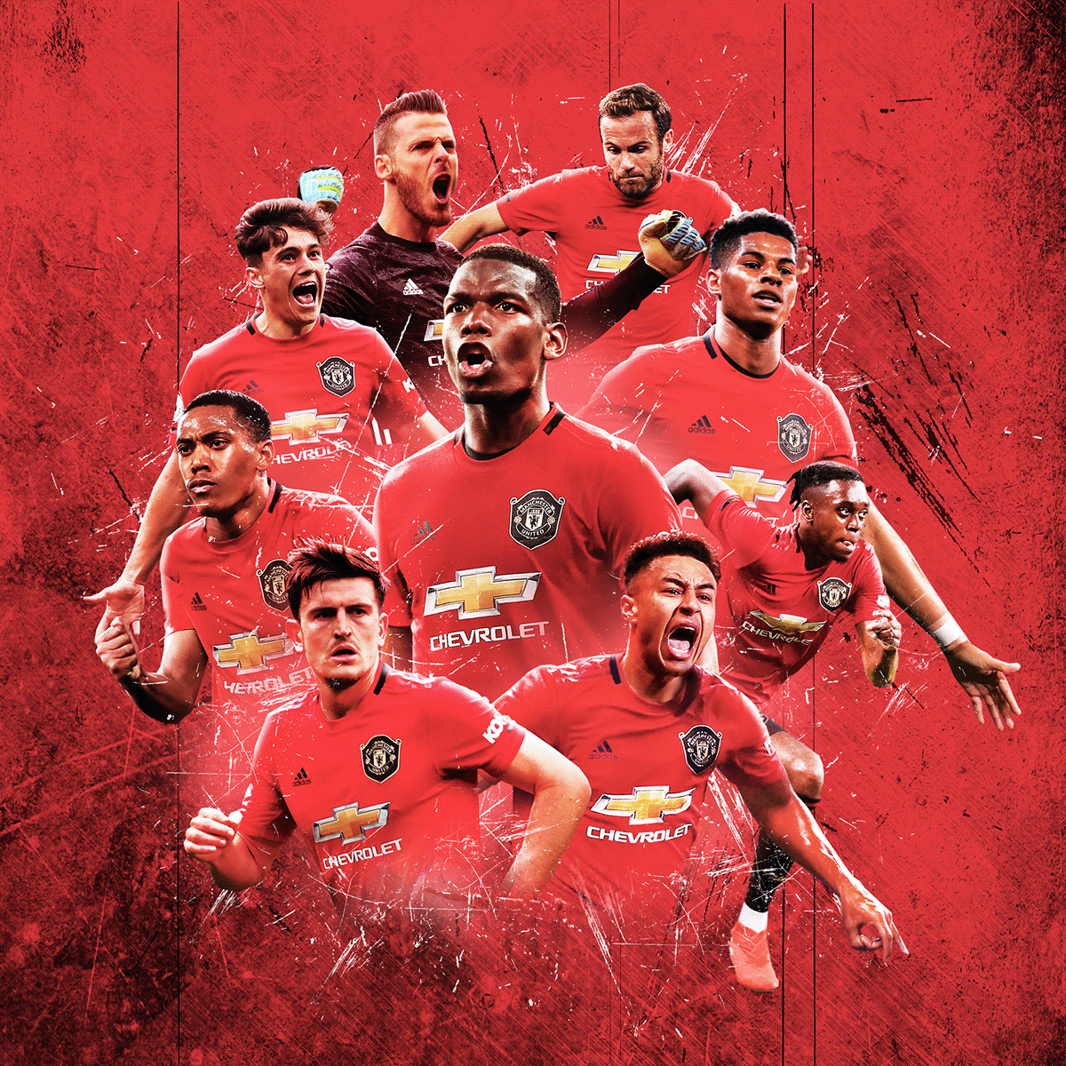 Football Collage On Behance In 2020 Manchester United Team Manchester United Wallpaper Manchester United Players
