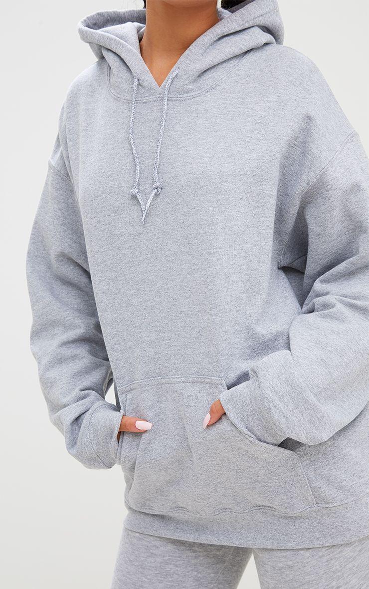 Grey Marl Ultimate Oversized Hoodie Oversize Hoodie Hoodies Grey Hooded Sweatshirt [ 1180 x 740 Pixel ]