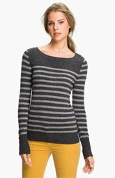 B-More is so flippin' cold.  Caslon® Boatneck Cashmere Sweater