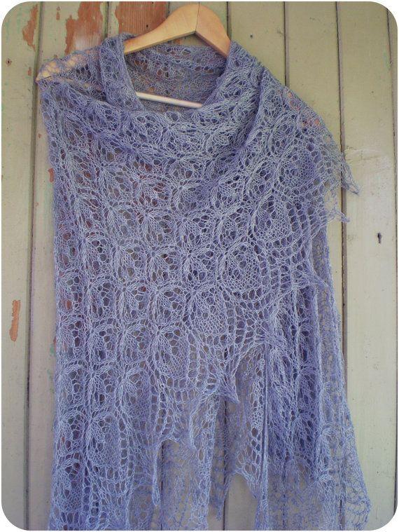 So very pretty.. Estonian lace shawl.   Hand knit shawl ...