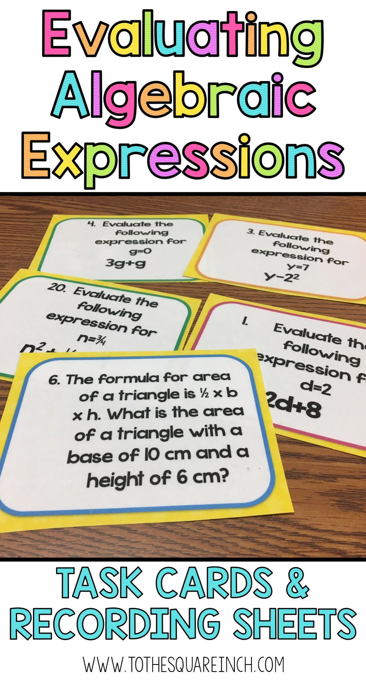 Evaluating Expressions Task Cards Evaluating Algebraic Expressions Evaluating Expressions Algebraic Expressions [ 2248 x 1199 Pixel ]