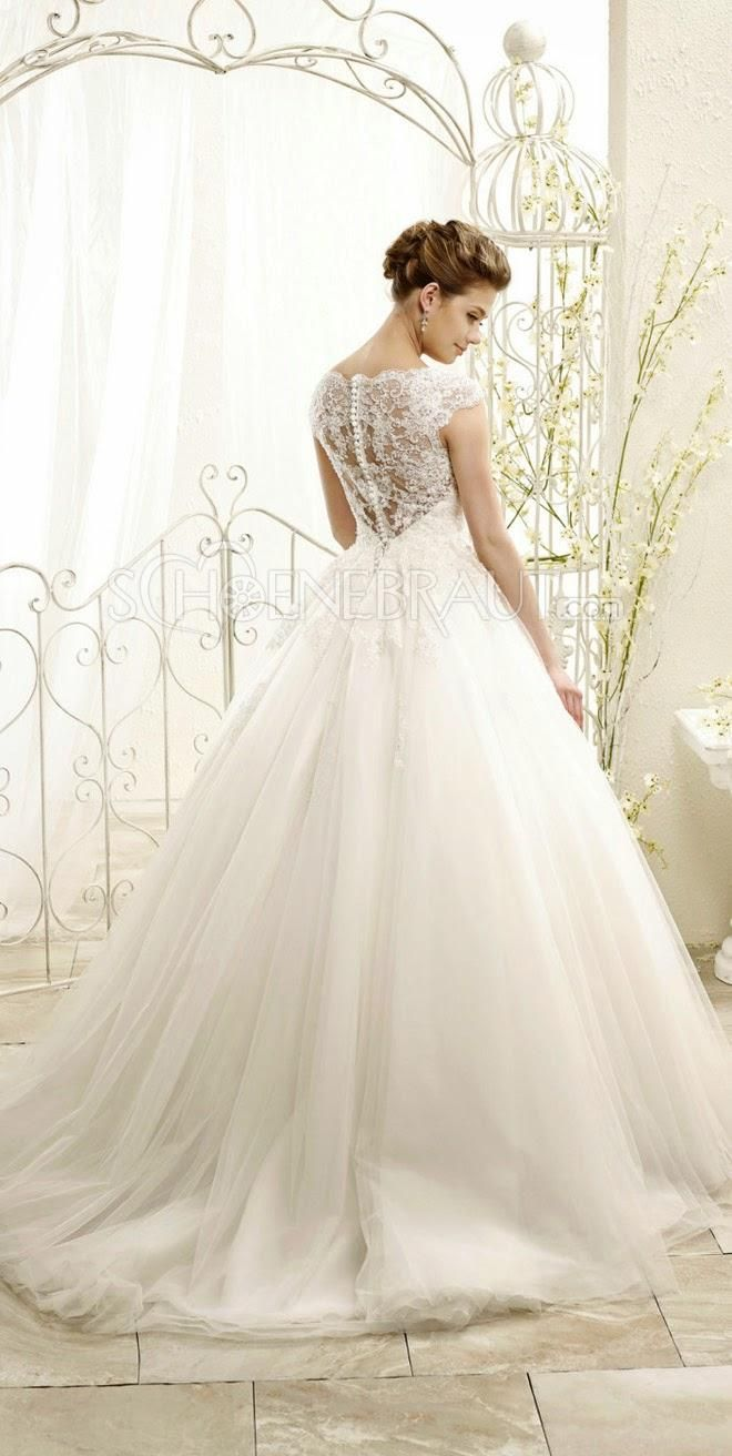 Brautkleider Prinzessin Rücken Spitze Lach Hochzeitskleider mit