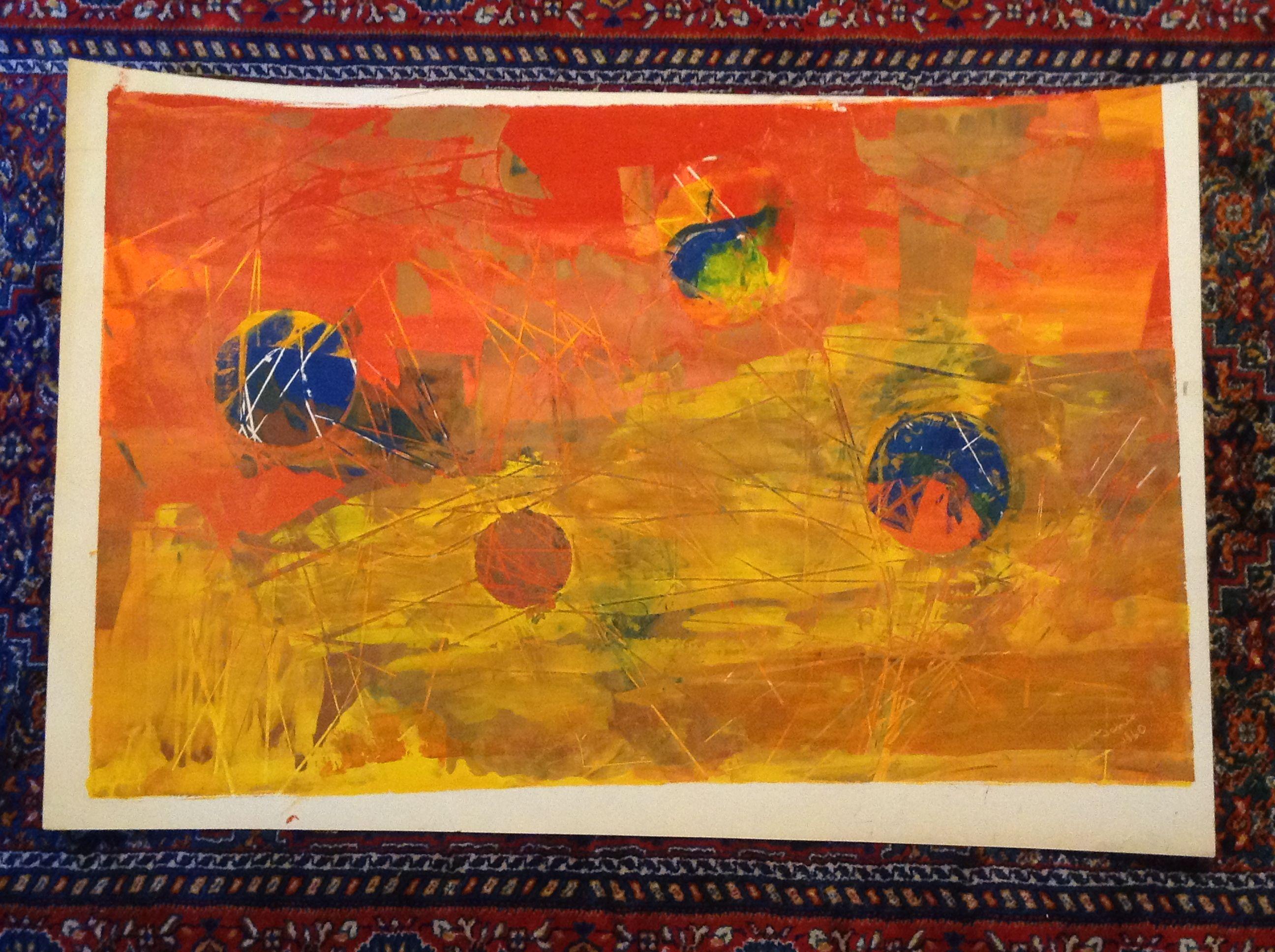 An original art piece by artist wilmer james signed and