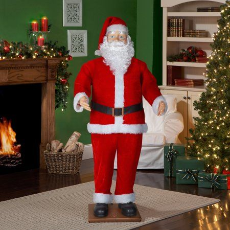 72 Inches (6 ft) Life Size Animated Dancing Santa with Realistic Face | Dancing santa, Christmas ...