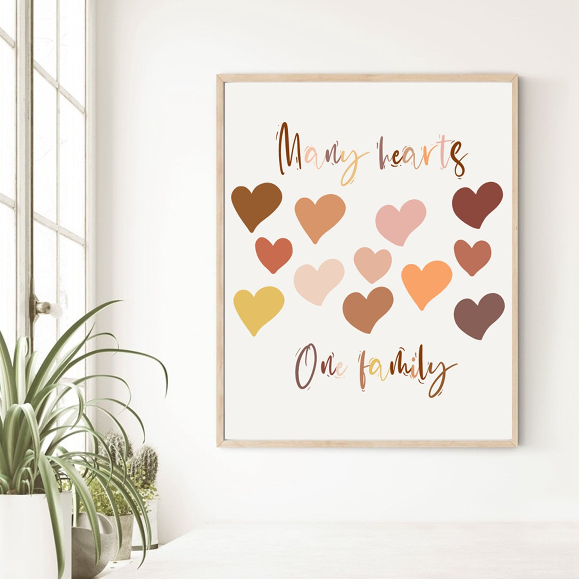 Hearts Printable Wall Art Skin Tones Print Racial Inclusion Etsy Printable Wall Art Diversity Poster Standard Picture Frame Sizes