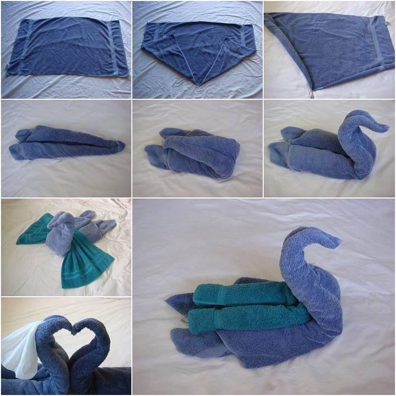 serviettes de bain cygnes astuces bricolage. Black Bedroom Furniture Sets. Home Design Ideas