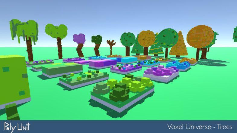 Voxel Universe Trees AD3D UniverseVoxelVegetation