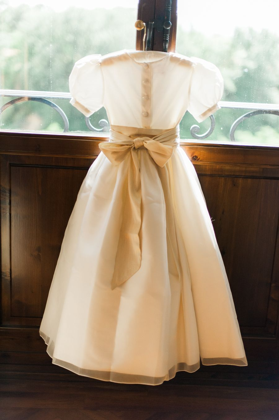 Stunning flower girl dress with the cutest bow little bevan
