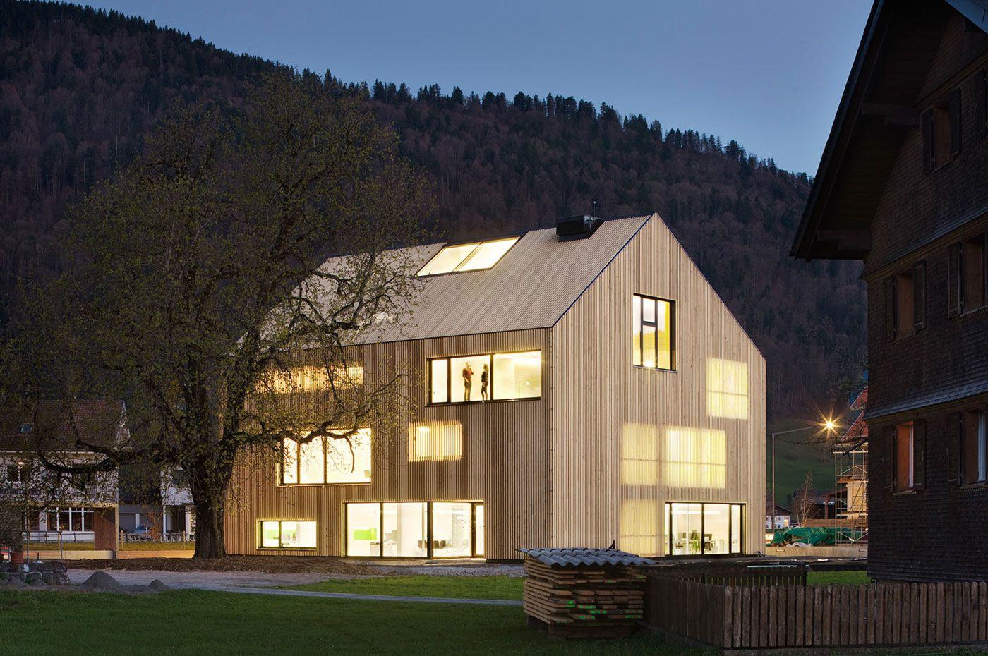 IMPRESSIONEN   Wälder Versicherung VaG   Andelsbuch · Modernes  HolzhausVersicherungWaldHaus ...