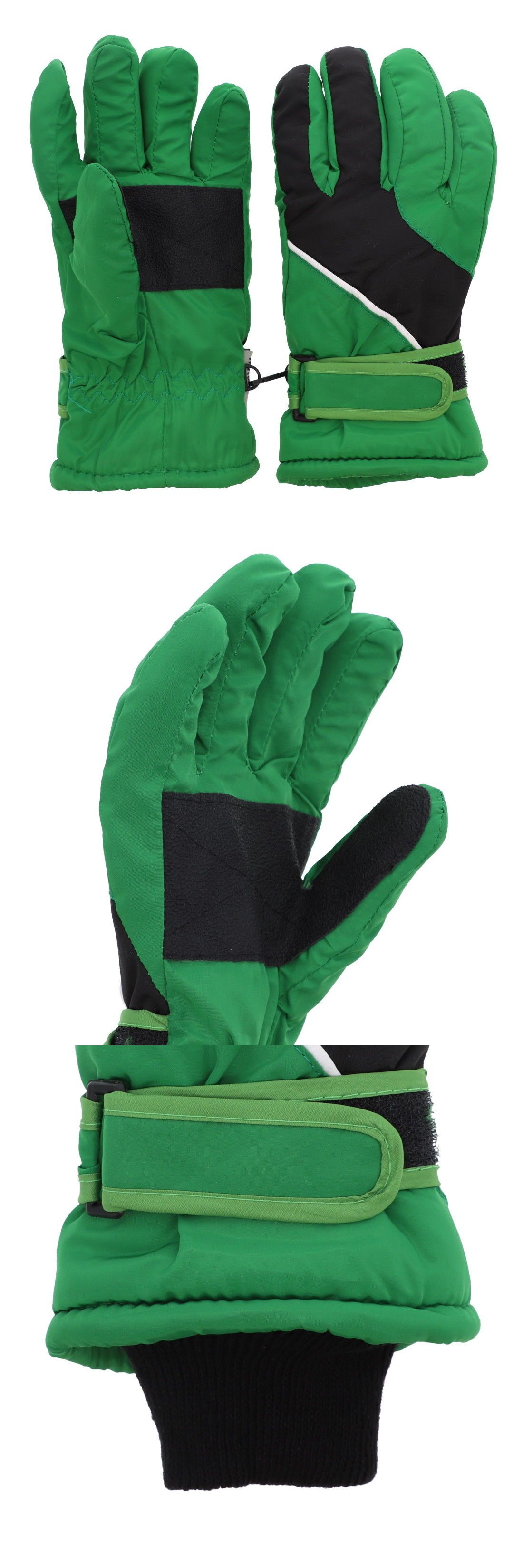 cde85c69e Gloves and Mittens 57885: Boys Waterproof Thinsulate Lined Winter Green  Striped Ski And Snowboard Gloves -> BUY IT NOW ONLY: $13.99 on #eBay #gloves  ...