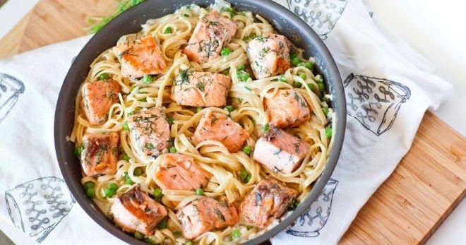 Паста с лососем в сливочном соусе – простое и оригинальное ...