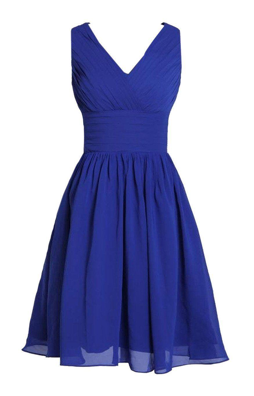b6d0e0fe5fa MyProm Women s Straps Short Chiffon Bridesmaid Dress Party Dress  Amazon  Fashion