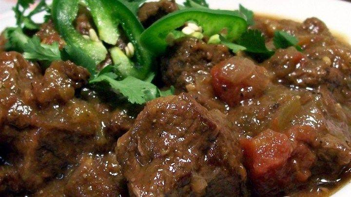 Beef Green Chili And Tomato Stew Recipe Allrecipes Com Recipes Stew Recipes Beef Recipes