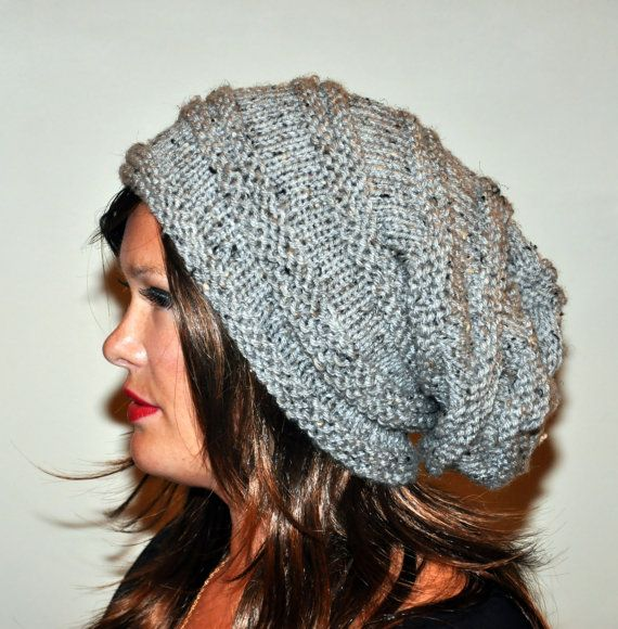 Slouch Beanie Slouchy Hat PDF PATTERN DIY Hand Knit by lucymir | My ...