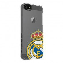 Carcasa Iphone 5 Real Madrid Transparente Logo Color S 70 60