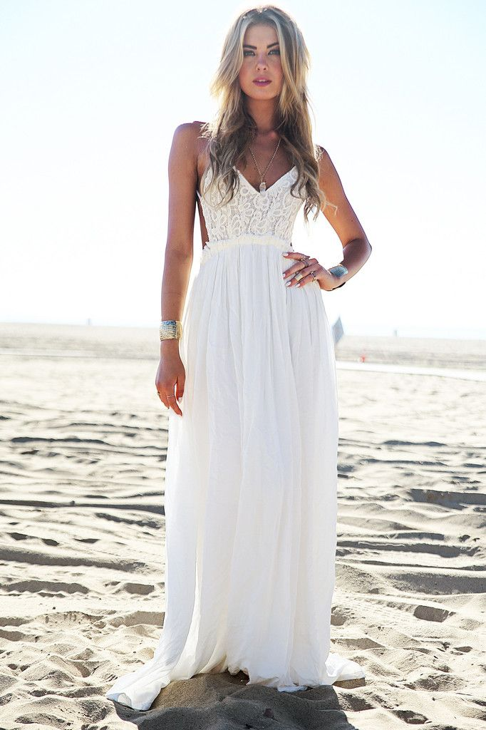 63d429b4a9f Still obsessing over crochet and our Camila Open Back Crochet Maxi Dress in  white is perfect! It features an open back. straps that go around the  shoulders