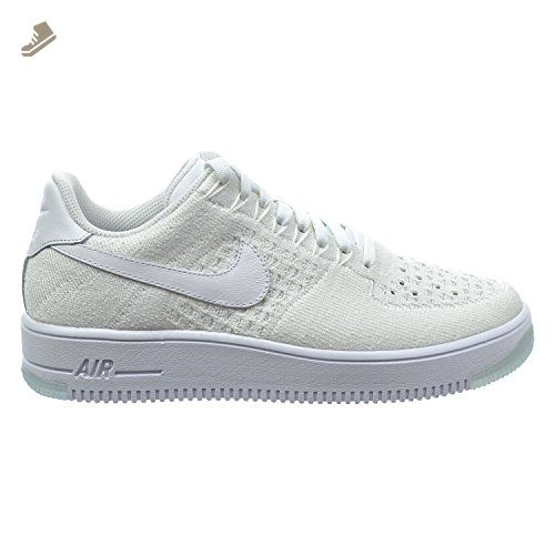 Nike Air Force 1 Flyknit Low Women s Shoes White 820256-101 (10.5 B ... 94c5314b52