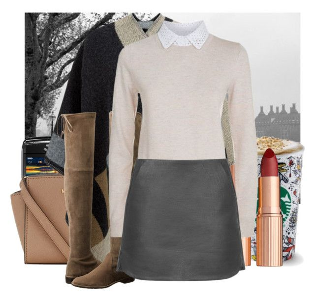 """""""Autumn"""" by jacisummer ❤ liked on Polyvore featuring Brewster Home Fashions, MICHAEL Michael Kors, Charlotte Tilbury, Burberry, Stuart Weitzman, See by Chloé and Topshop"""