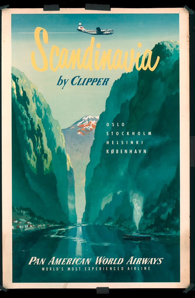 vintage travel poster | ... vintage travel poster please disregard the black magnets along the