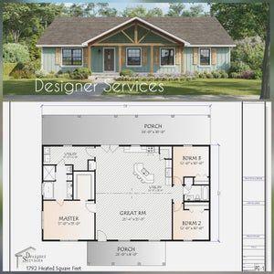 Thatcher House Plan, 2964 Square Feet