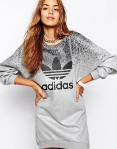 Adidas Rita Ora Sukienka Mini Ombre Szara Bluza S 5746348034 Oficjalne Archiwum Allegro Adidas Sweater Dress Adidas Outfit Sweatshirt Dress Outfit