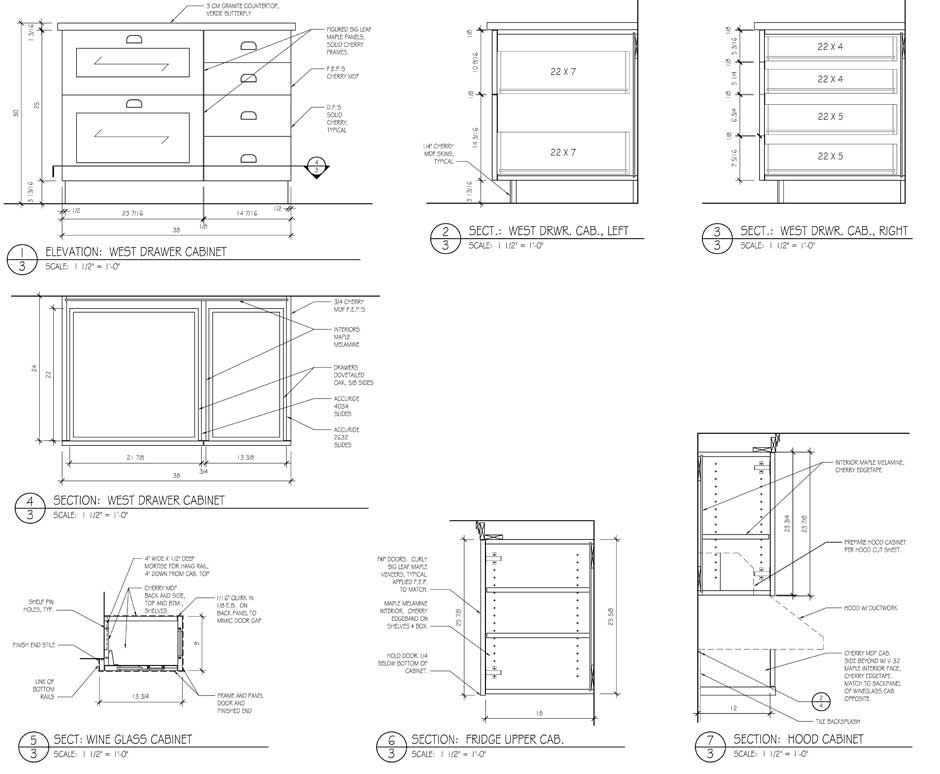 Kitchen Cabinet Designs Drawings House Furniture Elevations