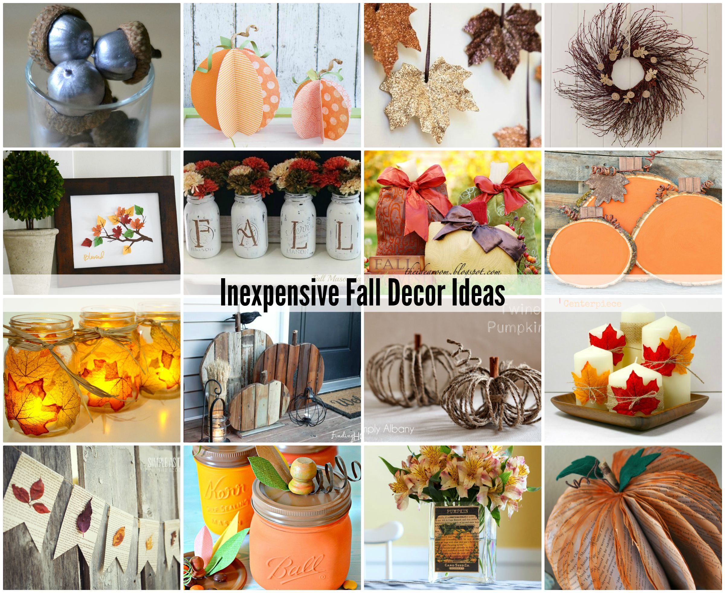 Inexpensive Fall Decor Ideas Such Good