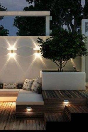 Formidable jeu de lumières sur la terrasse The dream Pinterest