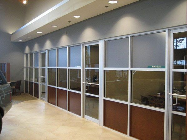 Glass wall partitions with attractive decorative glass for ...