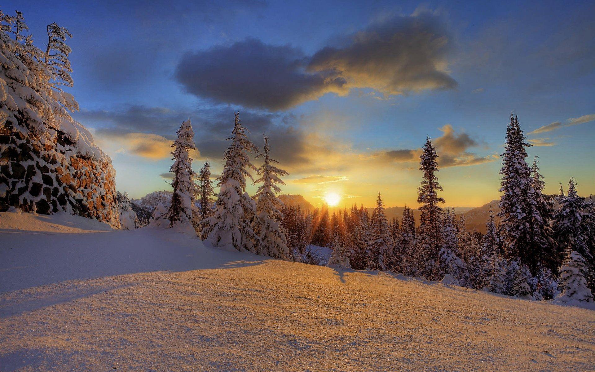 Beautiful Snowflake In The Sunlight: Winter Sunset Desktop Backgrounds 124 Winter Sunset