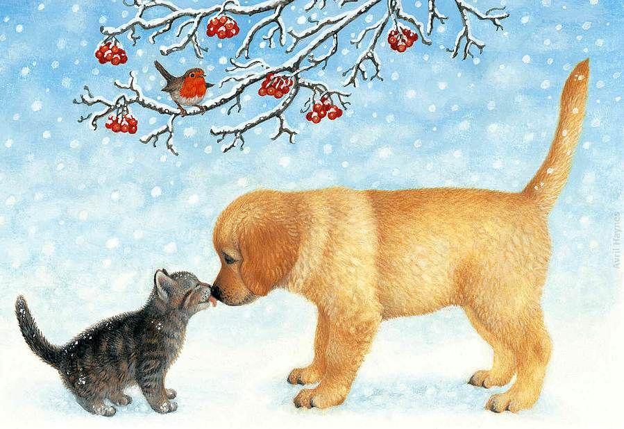 Картинки собак и кошек для детей