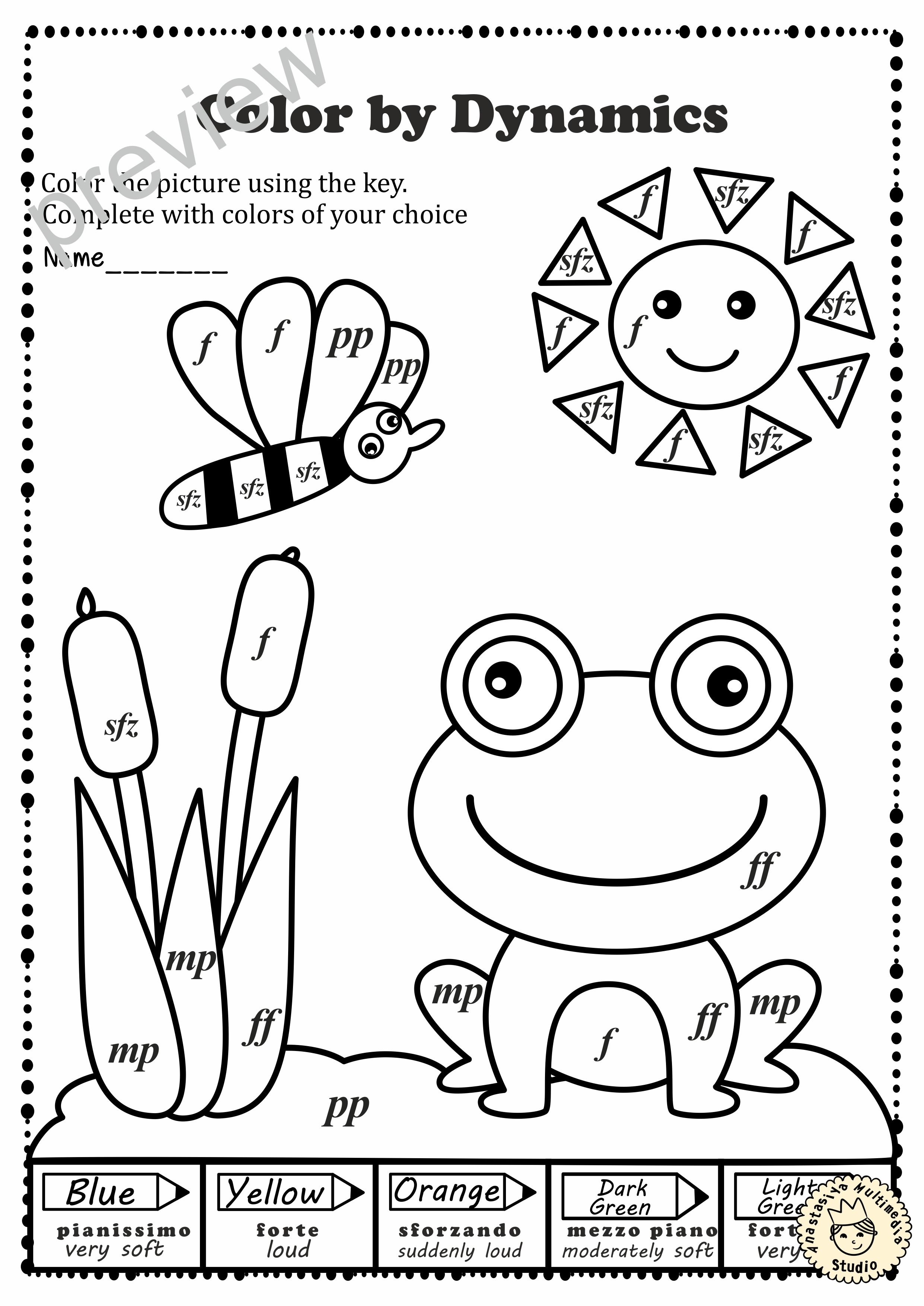 Spring Color By Note Activities Dynamics Spring Music Activities Spring Colors Music Worksheets [ 3508 x 2482 Pixel ]