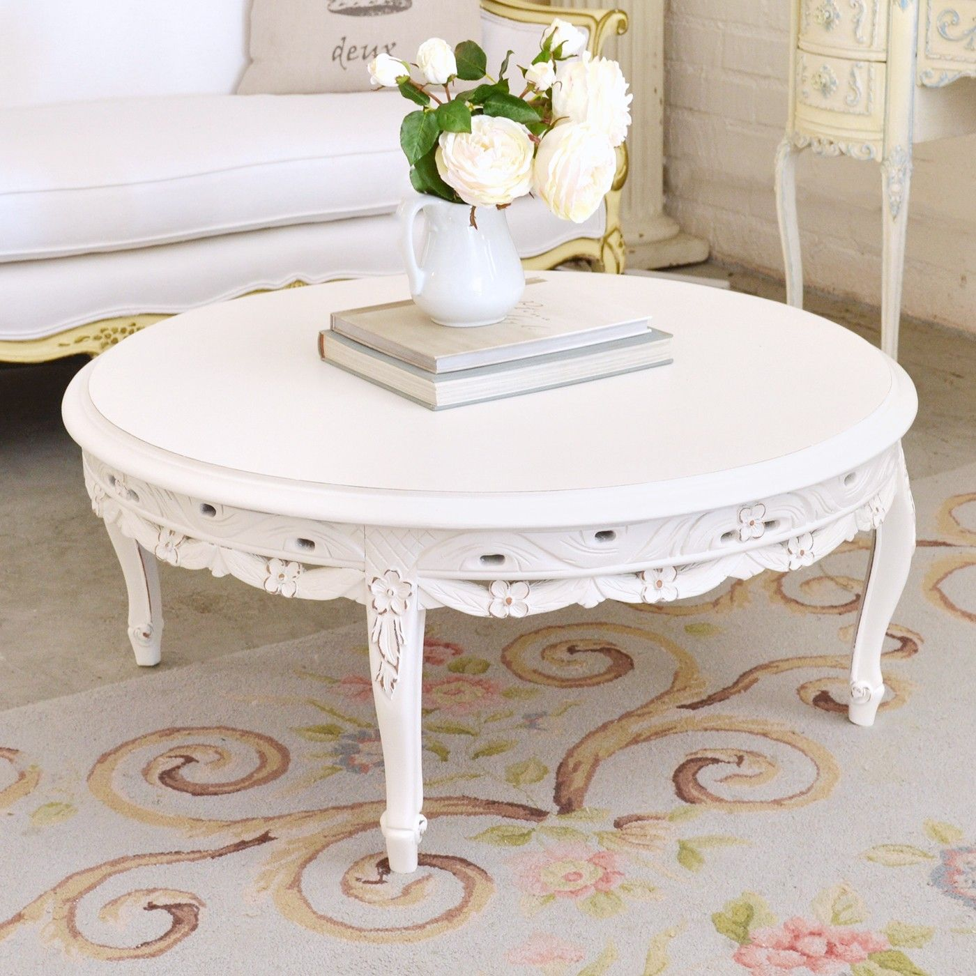 Lovely Round Coffee Table $595.00 #OOAK #thebellacottage #shabbychic. Round  Coffee TablesCountry StyleFrench ...