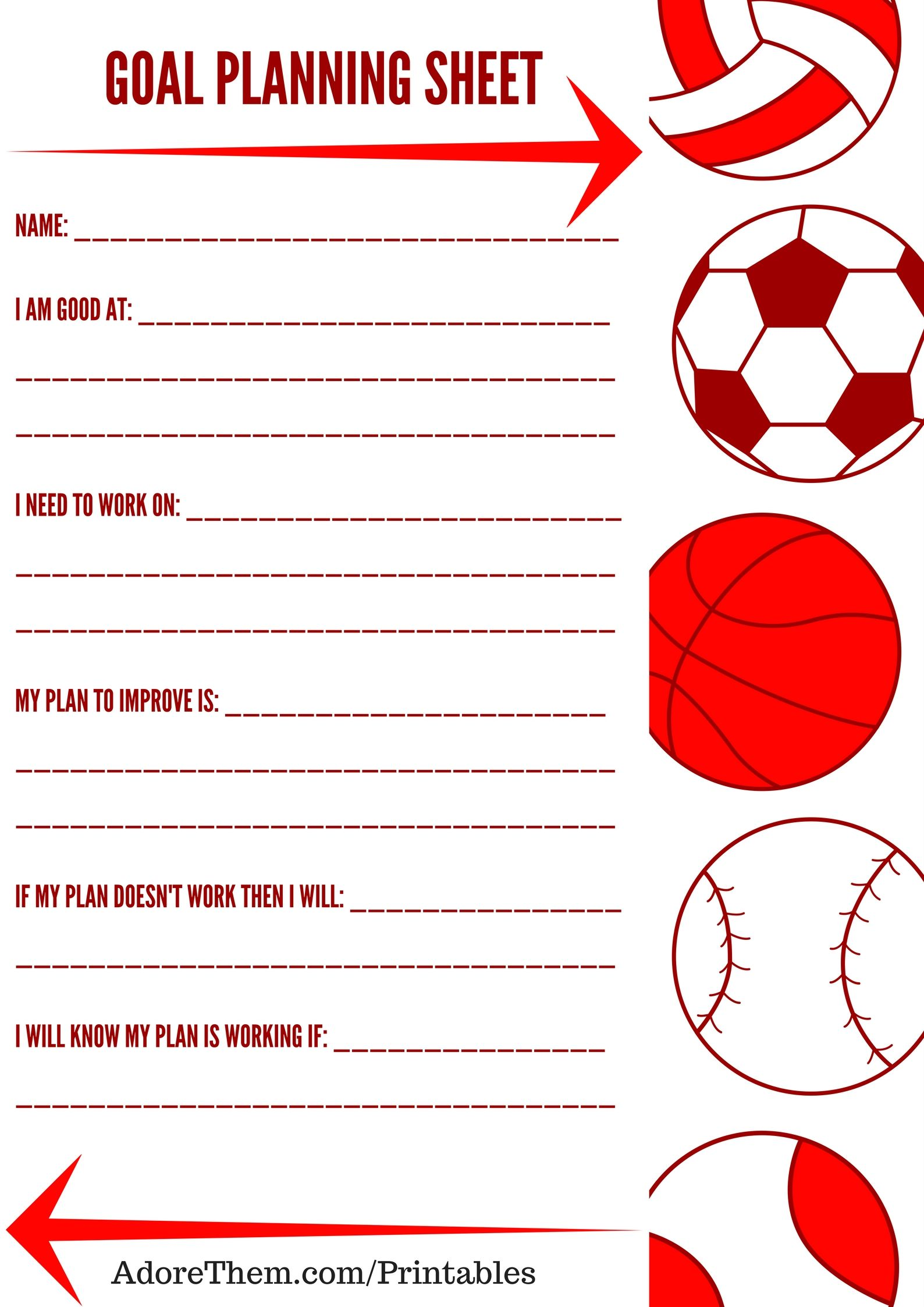 Goal Planning Worksheet For Kids Free Printable