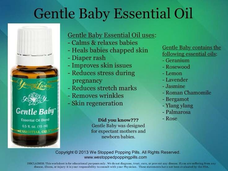 Gentle Baby Uses And Ingredients Essential Oils For Babies Gentle Baby Essential Oil Living Essentials Oils