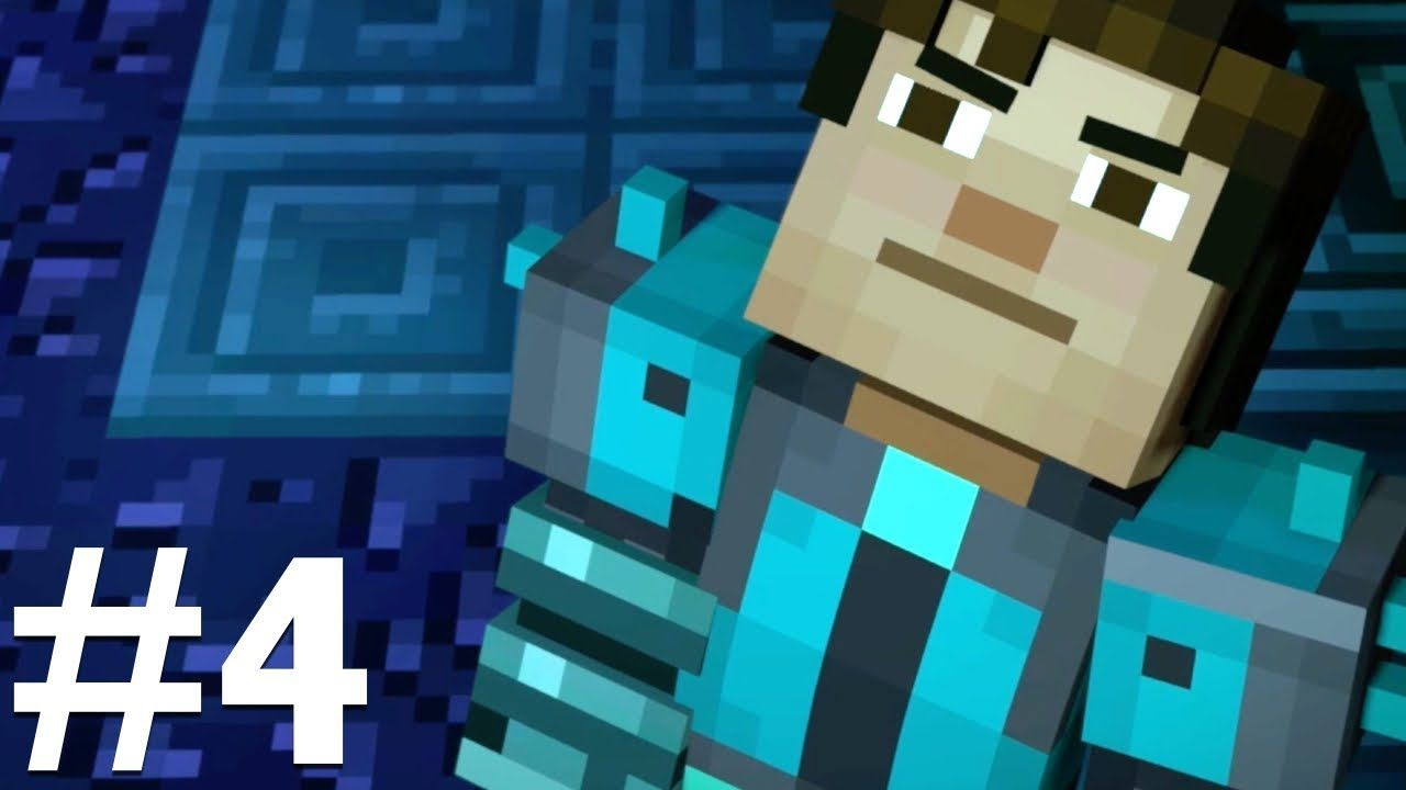 MINECRAFT Story Mode | Season 2 Episode 1 HERO IN RESIDENCE | Part 4 DIVING  FOR