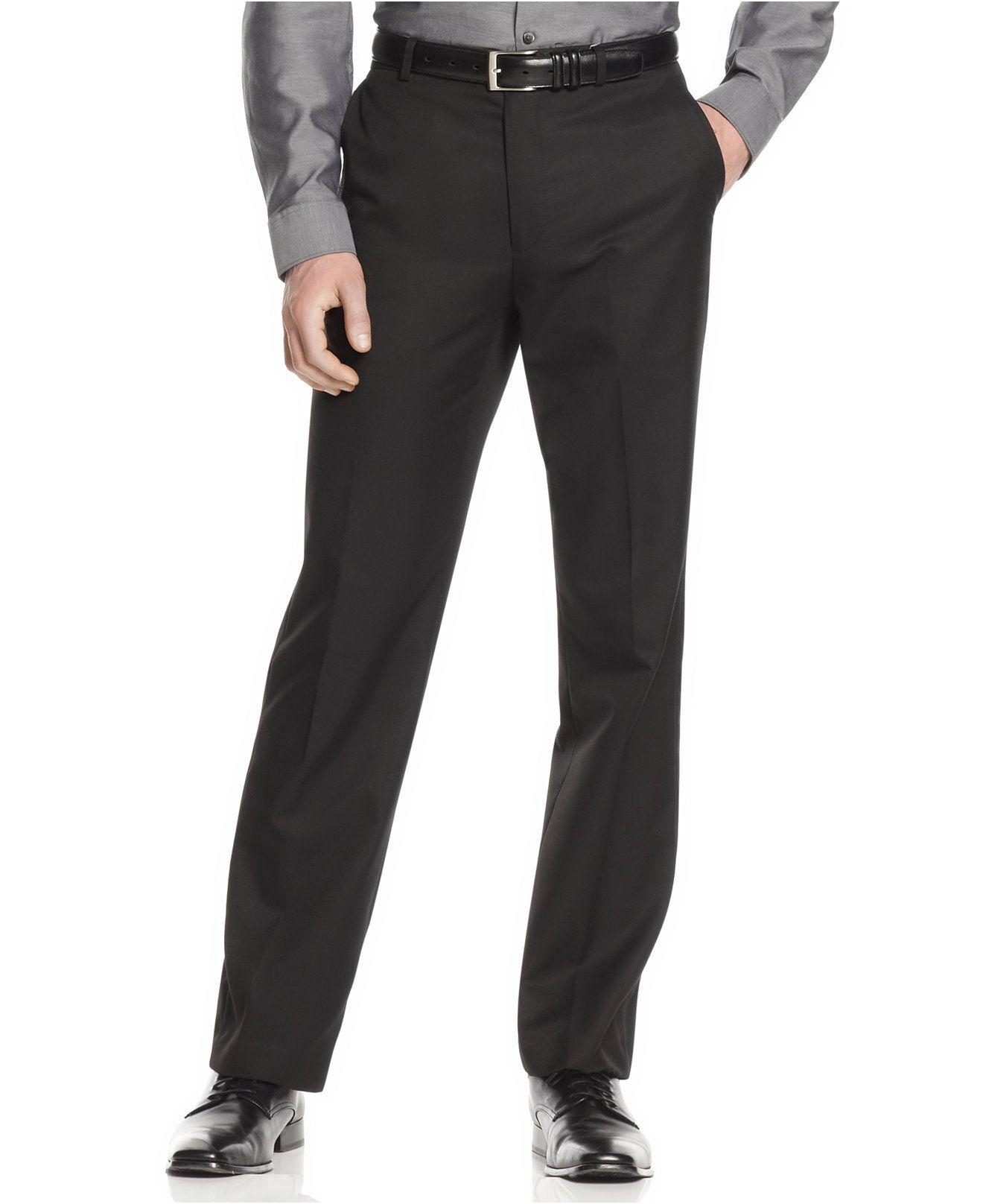 Calvin Klein Pants, Core Slim Fit Dress Pants - Pants ...