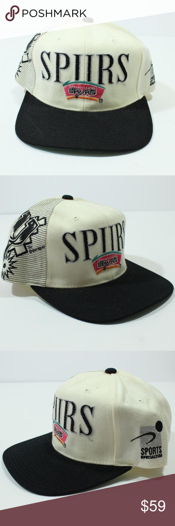 Sport Specialties SnapBack Hat San Antonio Spurs Vintage Sport Specialties  Spell Out SnapBack Hat NBA 90s aa286ca9bebf